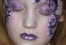 Face Painting: Purple Designs