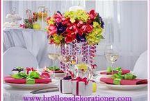 wedding decoration / wedding decoration bröllopsdekorationer