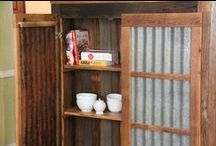 Bookcases / Rustic Grain made barn wood bookcases