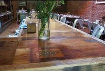 Bar and Bar Accessories / Rustic Grain made bars and bar accessories all made out of reclaimed barn wood.