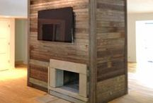 Accent Walls / Accent Walls we have made with reclaimed barn wood