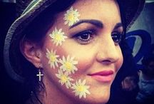 Festival Face Paint! / From pretty florals to abstract shapes, our Festival Face Paint board will excite and inspire!
