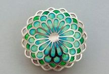 Enamel jewelry / Enammelled jewelry