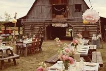 {Wedding: rustic} / Ideas to plan the perfect rustic wedding, locations, styling, table settings and outdoor decor!