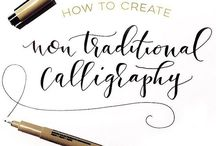 Calligraphy / Everything you could want to know about Calligraphy: How-to guides and tutorials, information about materials, and beautiful examples of calligraphy.