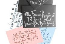 Address / Creative ideas for how you can address an envelope using different calligraphy and lettering styles. Perfect for occasions, weddings, invitations, and pen pals.