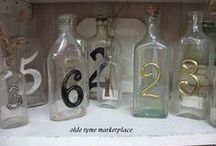 Table Number Ideas / Vintage inspired table number ideas