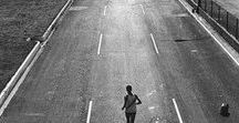 Why Runners Run / Why someone chooses to purposely put their body in a state of exhaustion pounding the ground for miles at their own will is vast.  Lots of people just don't understand, some may think we runners are mentally unstable to consistently engage in what they perceive as self punishment.  You runners out there understand the thrill, the high, and the drive that keeps you craving your long runs.  This board identifies what motivates us runners and what we all relate to!