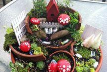 Bricolages jardin / Emboîtage de pots en terre pour diverses plantes