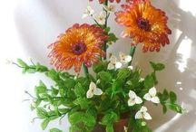 kytice a kvety koralkove