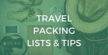 Travel Packing Lists & Tips / Pack like a pro for a trip around the globe and backpacking in South America: including, tips for carry on packing, packing checklists, packing a backpack, packing hacks, organization, packing ideas and packing essentials.