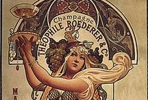 Inspiration Board - the Soft lines of Art Nouveau / flourishes, scrolls, florals and Mucha what's not to love?