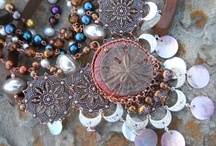 Bead Soup 5 -Sand Dollar / Inspiration board - Sand Dollar Focal - Bead Soup reveal date 03 Mar 2012 word associations: ocean, sea shells, pearls, mermaid, moroccan (from the shape of the necklace on the mermaid print) Dreams of Marrakech is now available in my Etsy shop Wind Dancer Studios