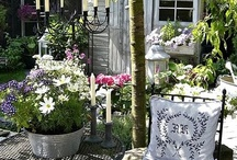 garden & outdoor living spaces... / beautiful gardens, arbors, greenhouses and wonderful outdoor living spaces...ideas for the garden courtyard at the vintage house?