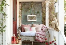 farmhouse porches... / porches to sit, swing and relax on ~ to watch the world go by...