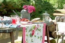 entertaining in the garden... / lovely ideas for garden parties at the vintage house...