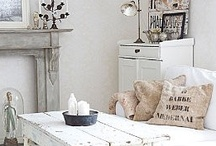 cottage style ~ living rooms / decorating for comfortable and cozy living...