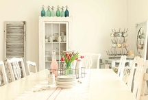 cottage style ~ dining rooms / lovely ideas for dining rooms...