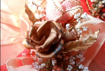 Design board = corsage for Alex's SR Prom & date 2013 / Inspiration for and progress of corsage and matching boutonniere Sr Prom 2013 Coral Roses and Baby's Breath