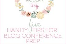 Blogging: Conferences / Tips on how to plan and prepare for blogging conferences