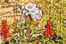 My Garden Paintings / Paintings of gardens by Simon Birtall.