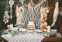 Dessert Table Ideas / Ideas on how to decorate your own dessert tables for weddings, birthdays, baby showers, bridal showers and more!