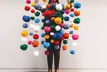 POMS! / pompoms, pom-poms, pom, fun, fiber, knitting, design, crafts, funny, humor, lighthearted, crafts, crafters, knit, knitters, DIY, project, pattern, crafting, makers, crafters, workshop, yarn