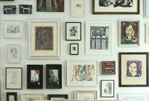 Ways to hang pictures especially art walls