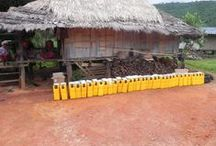 LIFESAVER in Ban Hak Kia in Northern Thailand / LIFESAVER have distributed 34 LIFESAVER jerrycans to Karen village Ban Hak Kia in Northern Thailand #LIFESAVER #water