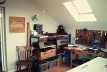 Our Studio in Cheshire / Images from goings-on at Emma Cornes HQ in Cheshire, England