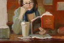 Women reading - and a few men / Pictures of women - young ones too - with a book in their hands