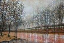 Fiona Hart Landscape Paintings / My landscape paintings with lots of trees, atmosphere and sky