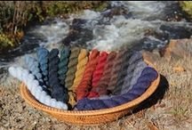 Yarn: Watershed Collection / Our watershed line of soft spun, minimally processed heathered woolen yarn for knitting. Spun right here at our mill in Harrisville.