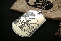 {{Custom Dog Tags}} / Perfect gift for a husband, brother, father, or son.