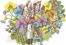 Terhi Ekebom / Terhi Ekebom (b. 1971) is an artist, graphic designer and illustrator from Helsinki.