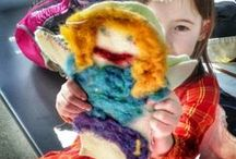Crafty Kid Projects / Projects created by children with Harrisville Designs products