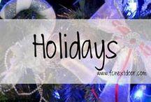 HOLIDAYS / Everything Holidays || Party setup, Recipes, Decor, etc.