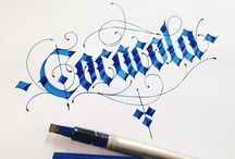 Lettering,calligraphy