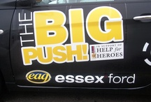 The Big Push! / Help For Heroes is a charity that Essex Auto Group have been involved with for a long time and helped sponsor numerous fund raising events. The Big Push is the latest event -- we provided a Ford Ka which was then pushed around the test track at the Ford Dunton Facility in Essex.
