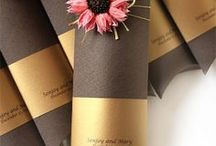 Brown Wedding / Invitations, cards, wedding décor in brown hues