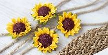 Sunflower Wedding Theme / Sunflower wedding inspirations- invitations, cards, cakes , decoration, flowers, table settings and centerpieces