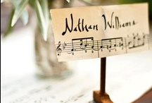 Music Inspired Wedding Theme / For music lovers, table decorations, music detailed accessories, centerpieces, place settings
