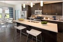 Kitchens / The kitchen is the heart of any home, so we've designed these spaces to be practical, social, and sophisticated. Plenty of counter space, luxurious islands, and spacious dining nooks make it easy to meal prep and entertain.