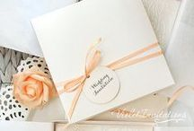 Peach Wedding / Peach color wedding, peach inspired wedding decorations, invitations, favors, table setting, place setting,