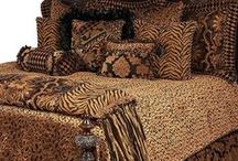 LEOPARD LUXURY BEDDING / Order today, yours in about a week!   Reilly-Chance Collection in your home.  Strong design combined with elegant fabrics and trims to give your bedroom the dramatic feel that only animal prints can bring.