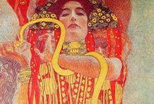 Art history:ArtNouveau / Gustav Klimt, Georges de Feure, Elisabeth Sonrel, Alphonse Mucha