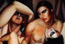 Art history:ArtDeco / Tamara De Lempicka, Gerda Wegener, George Barbier