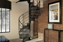 Escalier Décoration Industrielle / Escaliers Décors® (www.ed-ei.fr) vous propose ici un cahier de tendances sur le design Industriel pour que votre escalier s'harmonise avec votre décoration, votre mobilier, vos objets, vos goûts, votre personnalité. Mise en valeur des matières naturelles comme le métal, l'acier, le fer, le bois, les finitions patinées. Avec Escaliers Décors®, imaginez le vôtre ! / by ESCALIERS DÉCORS® www.ed-ei.fr