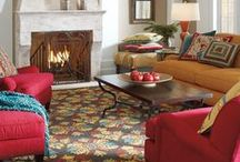 Cozy Up to the Inglenook / It's that time of year when we crave curling up with a mug of something steamy amidst equally comforting and colorful furniture, rugs and pillows. Enter our Inglenook Collection. Think rich woods, falling leaves, the charm of a country lodge and a warming color palette to complete the inviting look. So, strike up a fire – it's time sit hearth-side. / by Company C