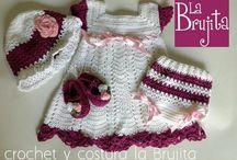 baby clothes by Crochet y costura la Brujita. Instagram: @cyclabrujita / www.facebook.com/crochetycosturalabrujita